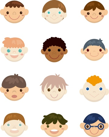 Kids face Stock Vector - 9360948