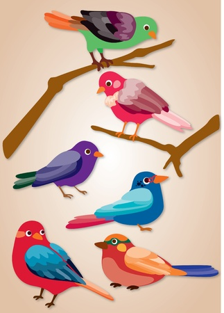 Image of cartoon birds icon Stock Vector - 12163550