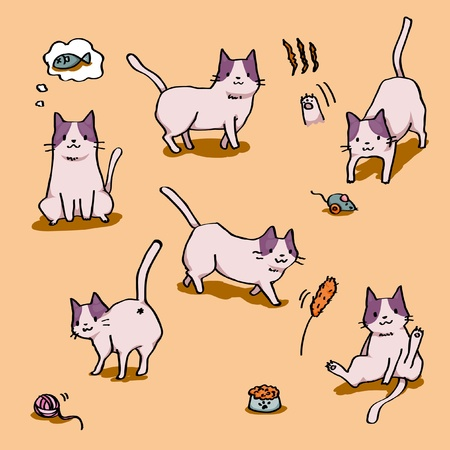 cute kittens Vector