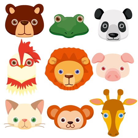 Animal head icons Stock Vector - 12467283