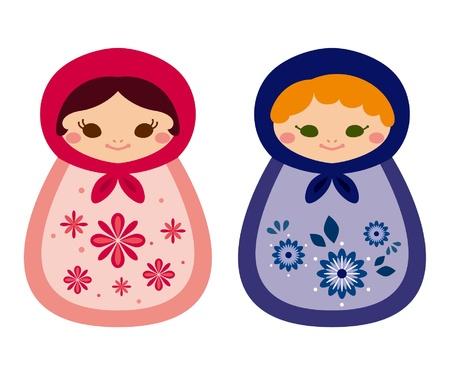 russian doll: Russian Doll Illustration