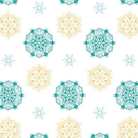 seamless pattern snowflake background