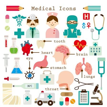 ingesteld medische pictogrammen