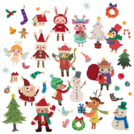 Christmas season theme Vector