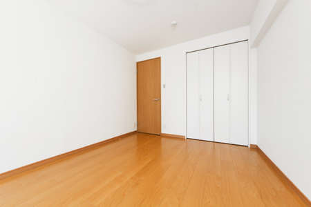 Interior doors and walls Simple unfurned apartment space