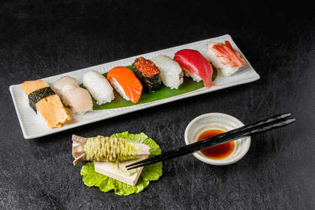General Sushi General Sushi Japan food Stock Photo
