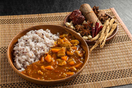 Typical Indian Curry and Nan Typical Indian Curry Set