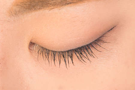 False Eyelashes Extensions of the Asian Woman