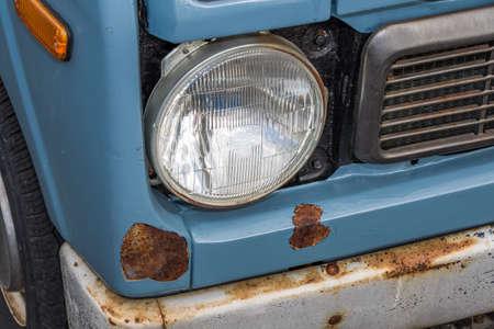 a recessed or rusty car Archivio Fotografico