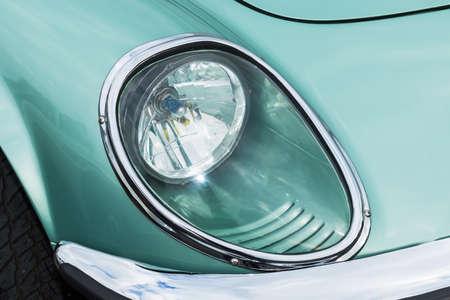 Car Headlights Headline of the Car Standard-Bild