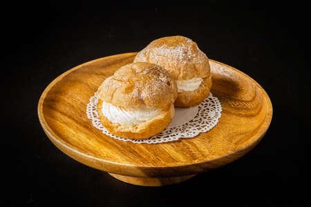 Cream puff A kind of rench cake cream puff 写真素材