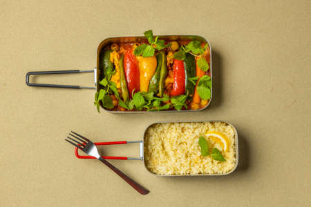 North African couscous and bean dishes Boiled chicpeas with couscous