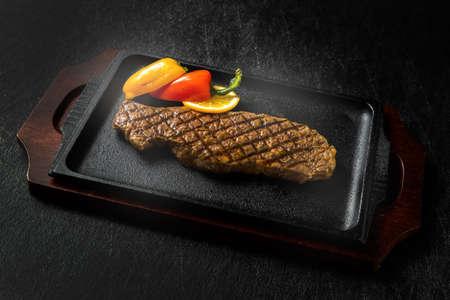 Sizzle Wagyu Steak High-Quality Japanese Beef Steak Stock fotó