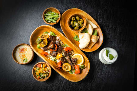 Kebab (Shishkabab) and Couscous Cuisine Shish Kebab and Couscous Dishes