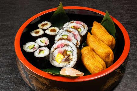 Rolled Sushi Rolled Sushi Stock fotó