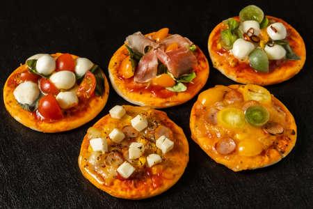 Mixed Pizza Italian Delicate Food Mixed Pizza Stock fotó