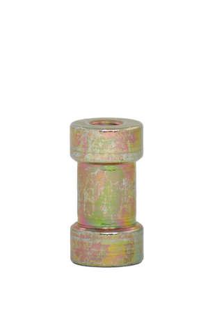 Female Threaded Screw Adapter Spigot Stud isolated on white background photo