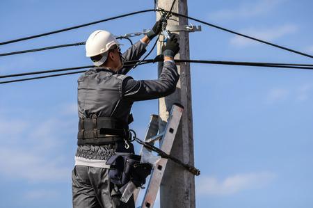 telephone: Telephone Engineer At Work