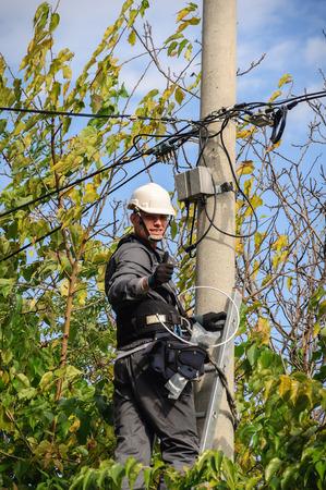 Telephone Engineer At Work photo