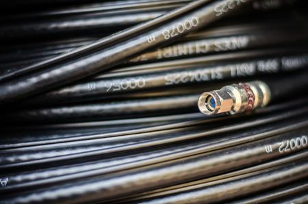 fiber cable: Optic Fiber Cable Stockfoto