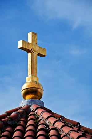 love dome: Orthodox church cross