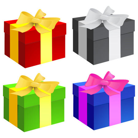 Vector gift box on a white background Vector