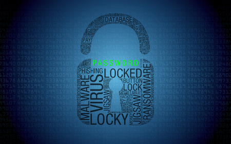 Ransomware computer - Padlock