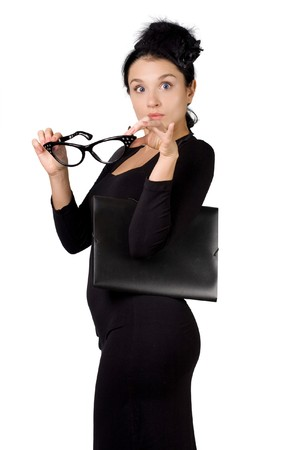 Portrait of a young fun business woman Stock Photo - 4398166