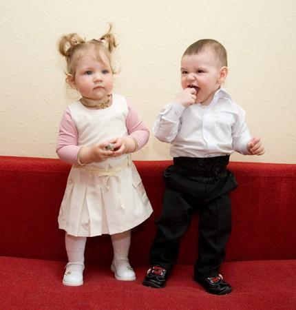 Boy and girl photo