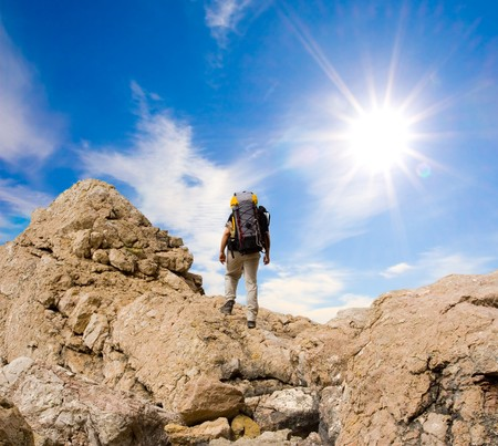 Hiking in the mountains Stock Photo - 4399645