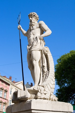 The ancient statue of Neptune photo