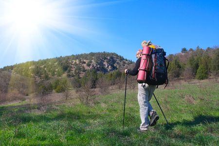 Hiking in the Crimea mountains photo