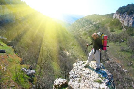 Hiking in the Crimea mountains photo