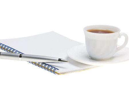 planning with the coffee in the morning photo
