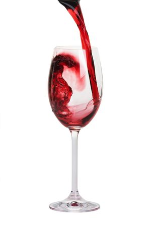 bocal: bocal with red wine closeup Stock Photo