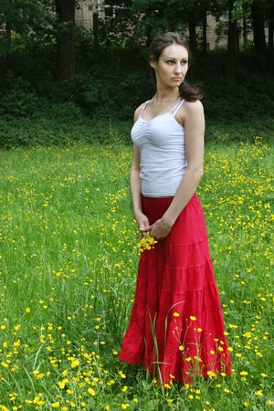Girl relaxing on the meadow Stock Photo - 5004493