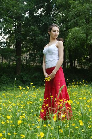 Girl relaxing on the meadow Stock Photo - 5004497
