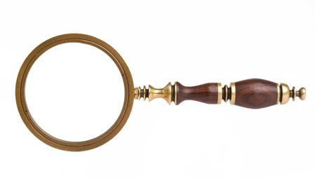 magnification: vintage magnifying lens