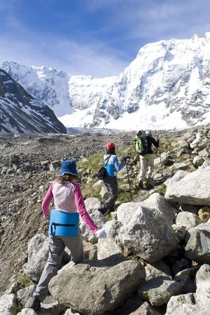 family in mountain photo