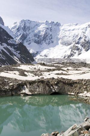 Glacier in mountain photo