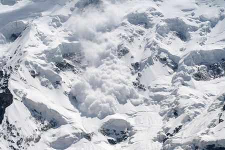 avalanche: snow avalanche Stock Photo