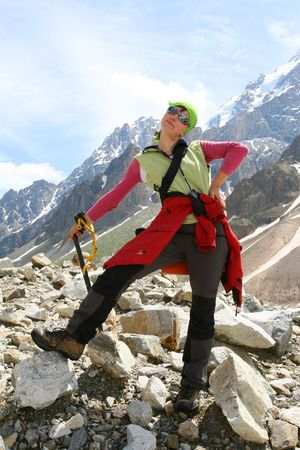 Hiker in mountains Stock Photo - 5006676
