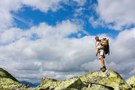 Hiking in the Carpathian mountains photo