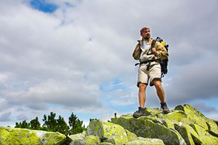 carpathian: Hiking in the Carpathian mountains Stock Photo