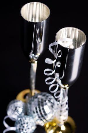 silver bocals and serpentine decoration photo