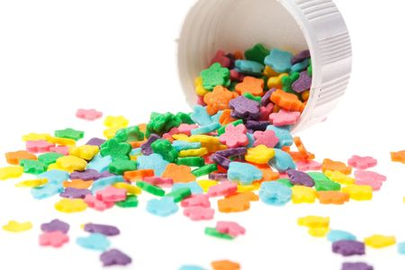 jimmies: candy background Stock Photo