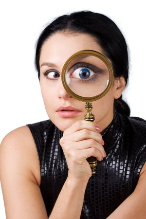 Eye and magnifying glass Stock Photo - 5620793