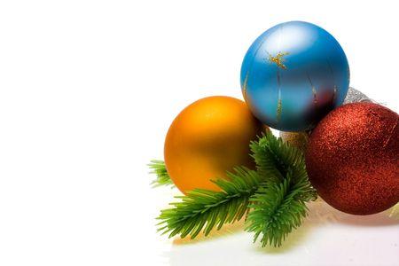 New year decoration isolated on white background photo