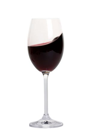 bocal: bocal with red wine closeup