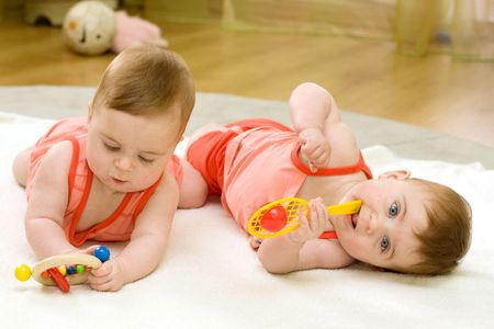 twin girls photo